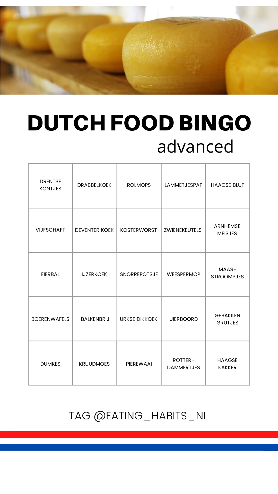 Dutch food bingo advanced - Eating Habits