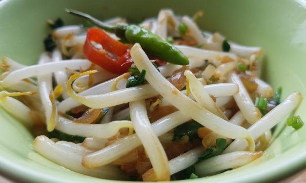 Recept Indonesische Tumis Tauge (gewokte taugé)
