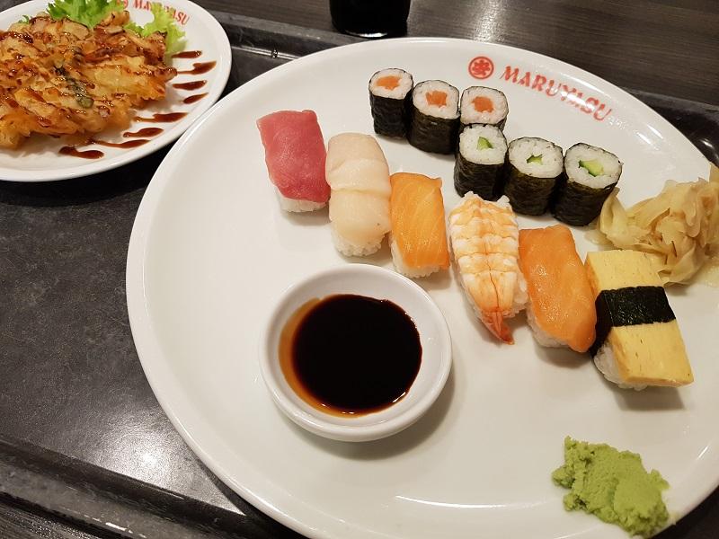 Maruyasu - sushi - kakiage - Eating Habits